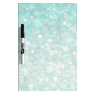 Adorable charming cheerful girly glittery dry erase board