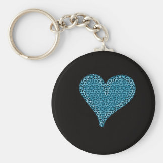 Adorable charming cute animal print heart keychain