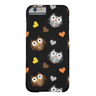Adorable Checkered Hoot Owl Pattern Barely There iPhone 6 Case