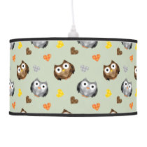 Adorable Checkered Hoot Owl Pattern Ceiling Lamp