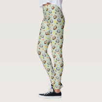 Adorable Checkered Hoot Owl Pattern Leggings