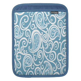 Adorable cheerful charming baby blue paisly sleeve for iPads