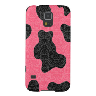 Adorable cheerful charming cute cow damask galaxy s5 case