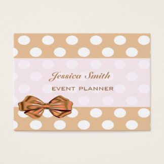 Adorable cheerful charming elegant polka dots business card