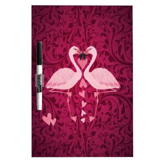 Adorable cheerful charming flamingo in love Dry-Erase board