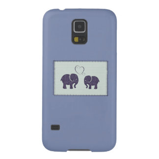 Adorable cheerful cute elephant in love galaxy s5 cover