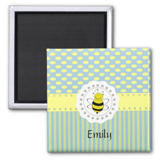 Adorable cheerful Cute trendy girly pattern bee Magnet