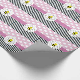 Adorable cheerful Cute trendy girly pattern bee Wrapping Paper