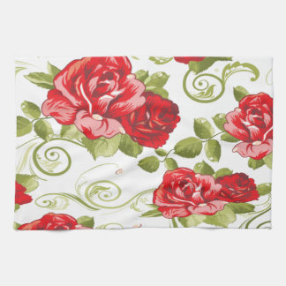 Adorable cheerful romantic vintage roses towels