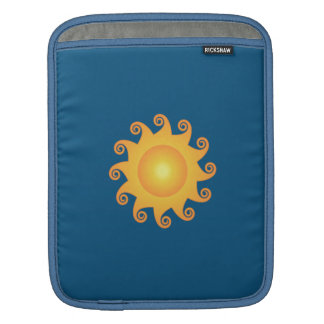 Adorable cheerful Trendy sun blue monogram Sleeve For iPads