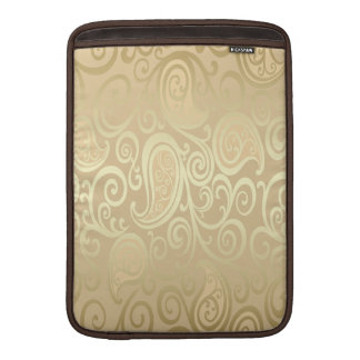 adorable cheerful vintage gold floral paisley MacBook air sleeve