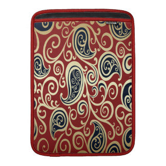 adorable cheerful vintage gold floral paisley MacBook sleeve