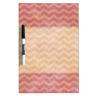 Adorable cheerful vintage leather look chevron dry erase board