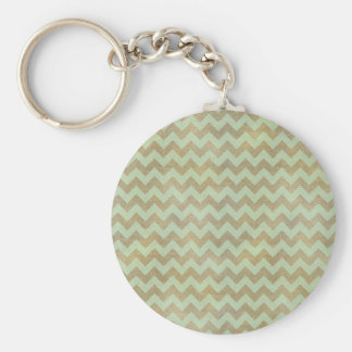 Adorable cheerful vintage leather look chevron keychain