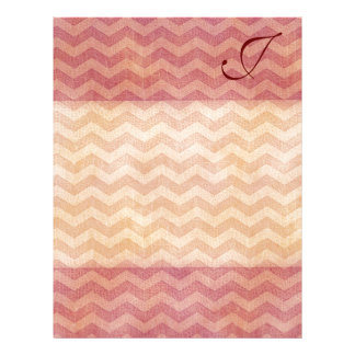 Adorable cheerful vintage leather look chevron letterhead