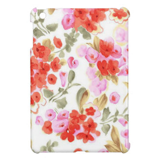 Adorable cheerful watercolor vintage gentle floral iPad mini case