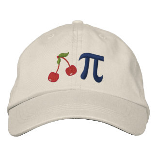 Adorable Cherry Pi Embroidered Hat
