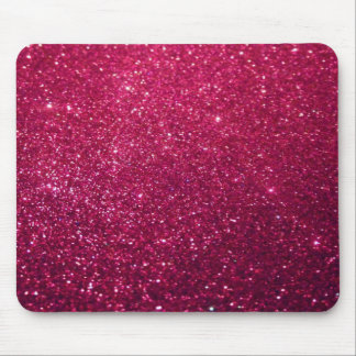 Adorable chic cheerful faux glittery mouse pad