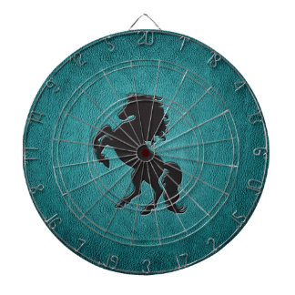 Adorable chic luxury  leather look horse dartboard