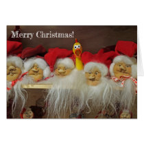 Adorable Chicken Christmas Greeting Card! Card