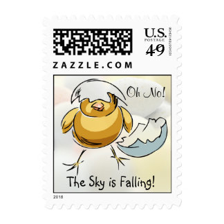 Adorable Chicken Little The Sky Is Falling Postage
