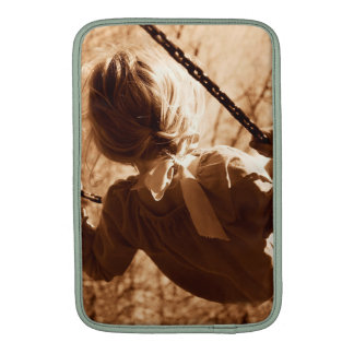 Adorable Child Swing Happiness Sepia MacBook Air Sleeve