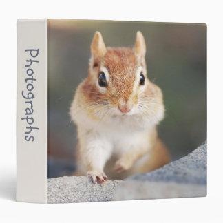 """Adorable Chipmunk 1.5"""" Photo Album 3 Ring Binder"""