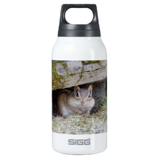 Adorable Chipmunk Hiding Out Insulated Water Bottle