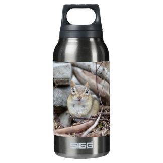 Adorable Chipmunk Smiling Insulated Water Bottle
