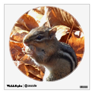 Adorable Chipmunk with Peanut Wall Sticker