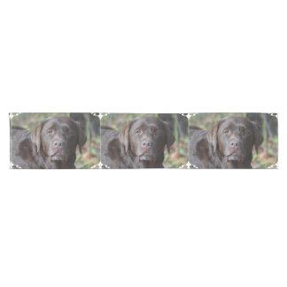 Adorable Chocolate Labrador Retriever Short Table Runner