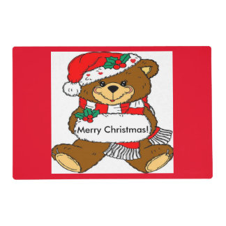 Adorable Christmas Bear Placemats
