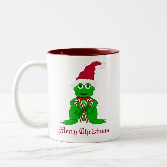 Adorable Christmas Frog Mug
