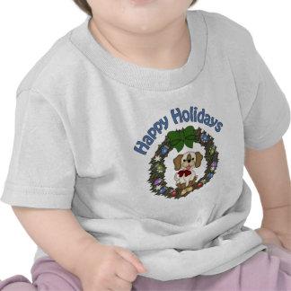 Adorable Christmas Holday Dog Wreath Shirts