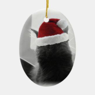 Adorable Christmas Kitten Christmas Ornaments