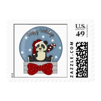 Adorable Christmas Panda Tees and Gifts Postage Stamp