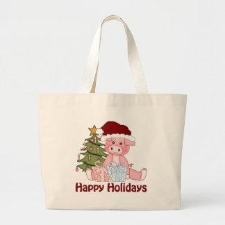 Adorable Christmas Pig Tees and Gifts Bag