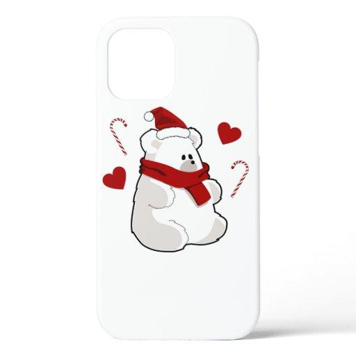 Adorable Christmas Teddy Bear iPhone 12 Case