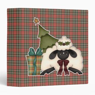 adorable christmas time sheep 3 ring binder