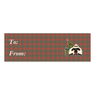 adorable christmas time sheep Double-Sided mini business cards (Pack of 20)