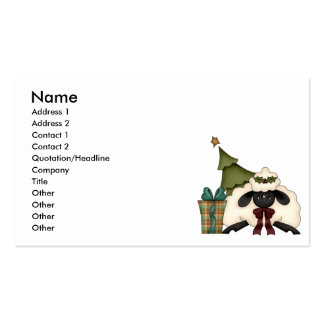 adorable christmas time sheep Double-Sided standard business cards (Pack of 100)