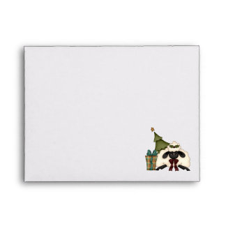 adorable christmas time sheep envelopes