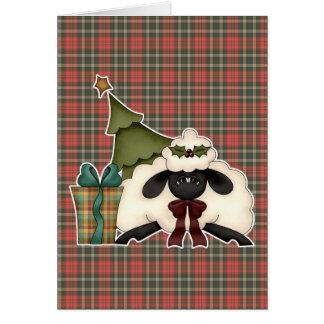 adorable christmas time sheep greeting card