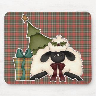 adorable christmas time sheep mouse pad