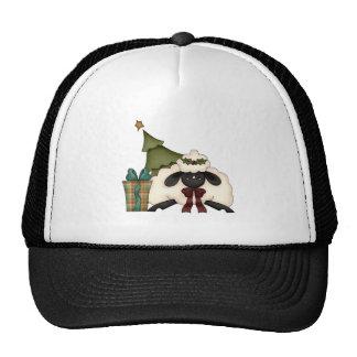 adorable christmas time sheep trucker hat