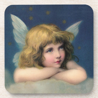 Adorable Christmas Vintage Angel Drink Coaster