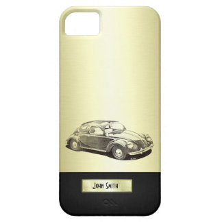 Adorable classy vintage gold old car monoram iPhone SE/5/5s case
