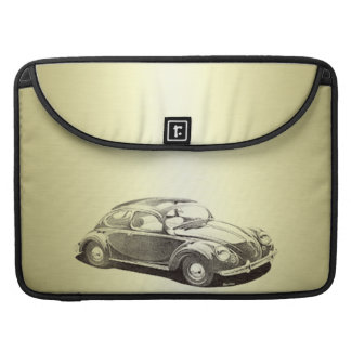 Adorable classy vintage gold old car monoram sleeve for MacBooks