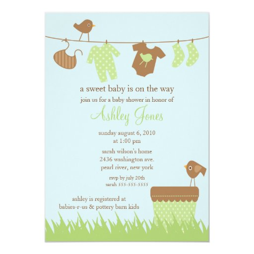 Neutral baby shower red carriage polka dots personalized