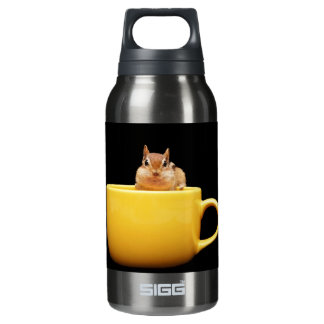 Adorable Coffee Loving Chipmunk Insulated Water Bottle